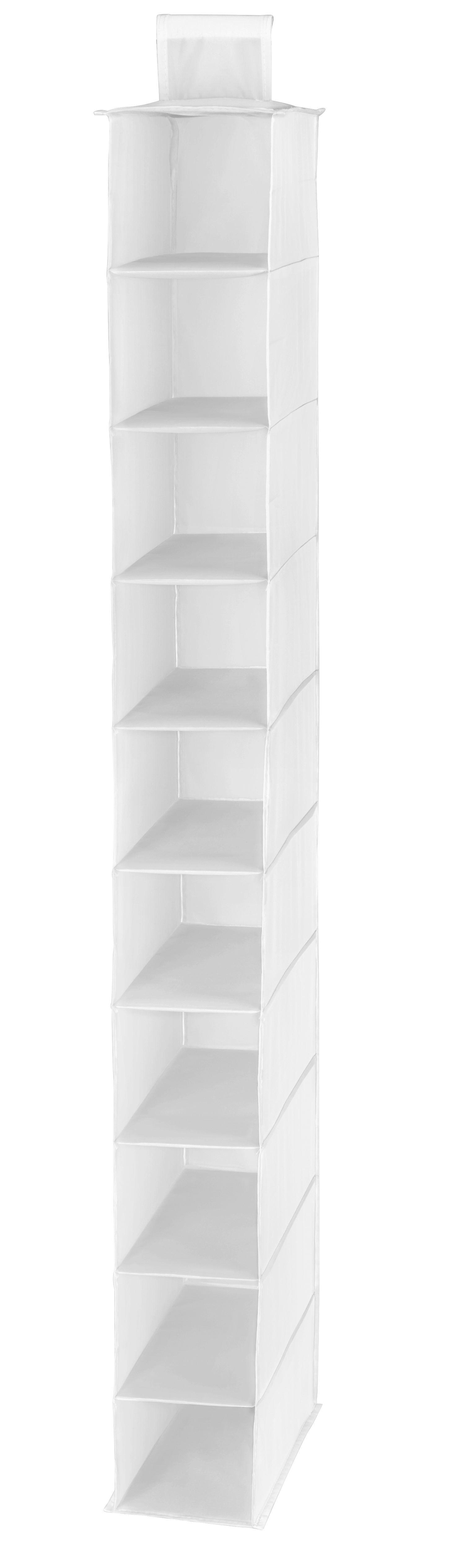 Hängeorganizer in Weiß mit 10 Fächern - Weiß, Textil (15/125/33cm) - MÖMAX modern living