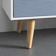 SIDEBOARD in Kiefer 'Evlyn' - Grau/Kieferfarben, MODERN, Holz (116/88,7/38cm) - Bessagi Home