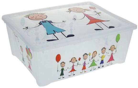 Box mit Deckel Kiddys in Weiß - Weiß, Kunststoff (42/35/15cm) - Mömax modern living