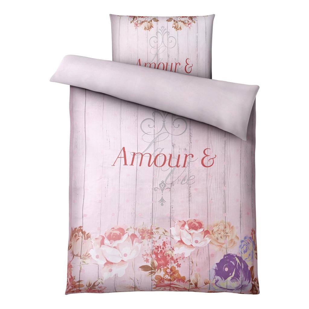 Bettwäsche Amour Rosa 135x200cm