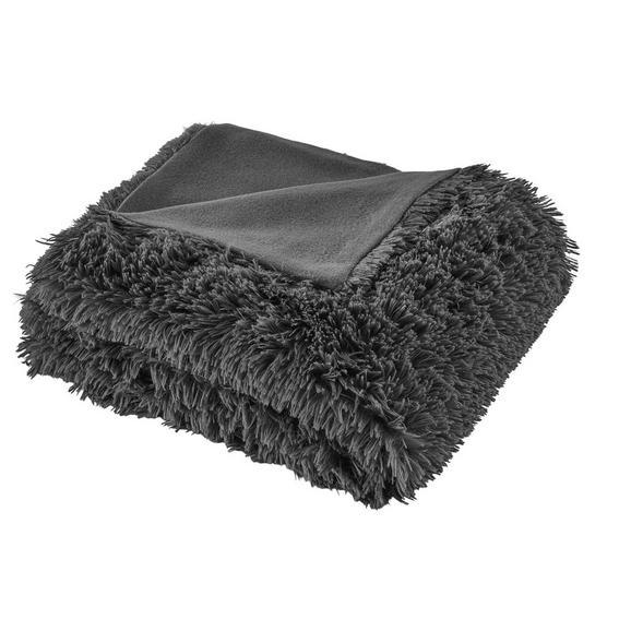 Decke Marle mit Wendeseite ca.150x200cm grau - Dunkelgrau, MODERN, Textil (150/200cm) - Mömax modern living
