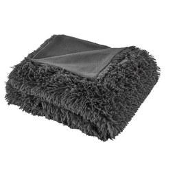 Felldecke Marle 150x200 cm - Dunkelgrau, MODERN, Textil (150/200cm) - Mömax modern living
