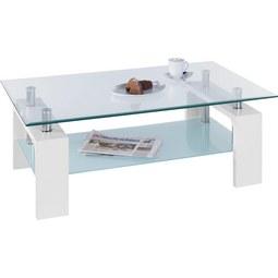Couchtisch in Weiß - Klar/Weiß, MODERN, Glas/Holzwerkstoff (100/45/60cm) - Modern Living