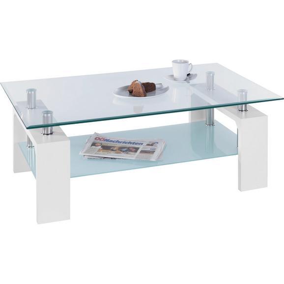 couchtisch in wei chrom glas online bestellen. Black Bedroom Furniture Sets. Home Design Ideas