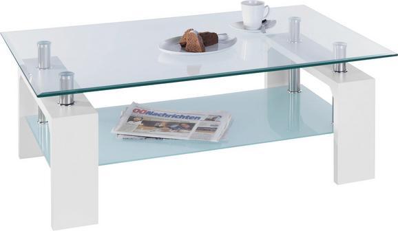 Klubska Miza Intro - bela/prozorna, Moderno, kovina/steklo (100/45/60cm) - Mömax modern living