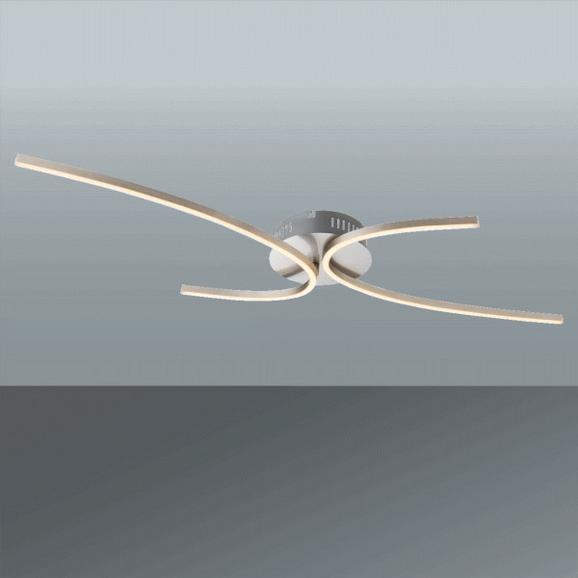 LED-Deckenleuchte Nika, max. 30 Watt - Opal, MODERN, Kunststoff/Metall (95/46/7,5cm)