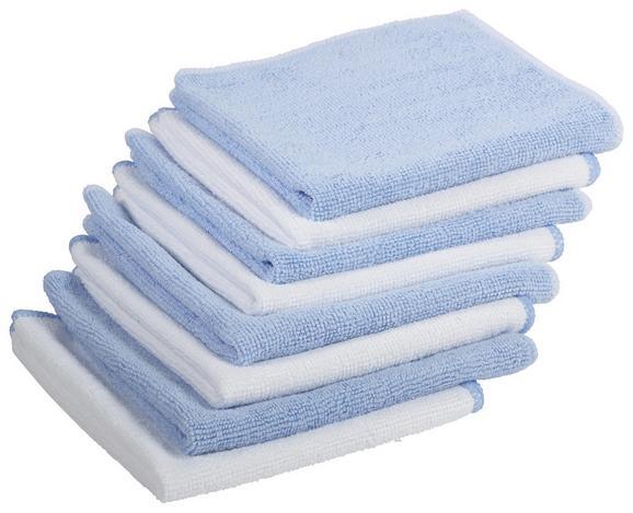 Mikrofasertuch Carla - Blau/Weiß, Textil (35/35cm) - Mömax modern living