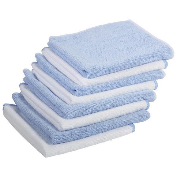 Mikrofasertuch Carla in Blau/Weiß 8 Stk. - Blau/Weiß, Textil (35/35cm) - Mömax modern living