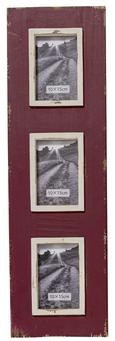 Okvir Za Slike Lilian - temno rdeča/bež, Romantika, les (2/21/70cm)