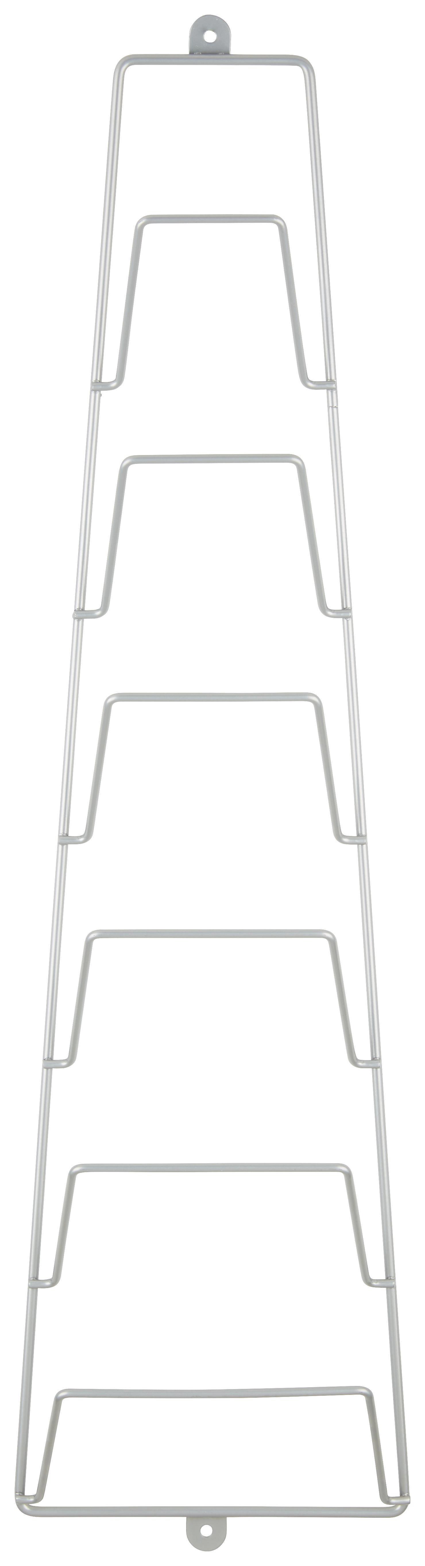ÚJSÁGTARTÓ PRAKTIK - alu színű, konvencionális, fém (18/65/18cm) - MÖMAX modern living