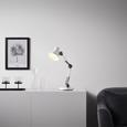 Schreibtischleuchte Harper - Schwarz/Weiß, MODERN, Metall (15/45cm) - Bessagi Home
