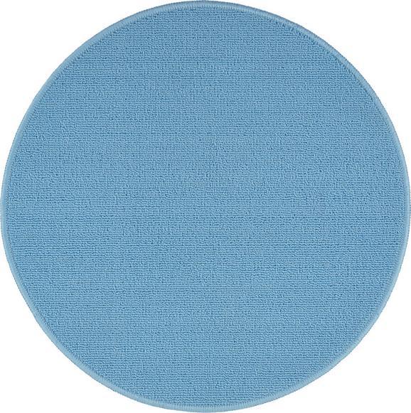 Teppich Eton 2 in Blau D. 90cm - Hellblau, LIFESTYLE, Textil (90cm) - Mömax modern living