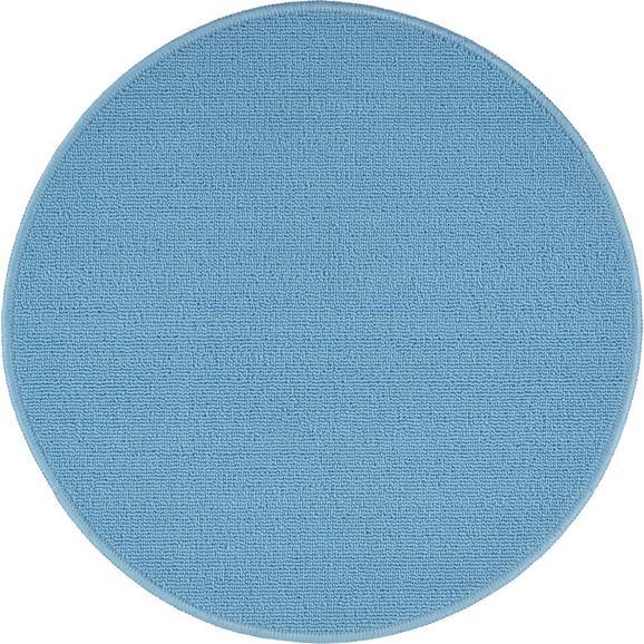 Teppich Eton 2 in Blau Ø ca. 90cm - Hellblau, LIFESTYLE, Textil (90cm) - Mömax modern living