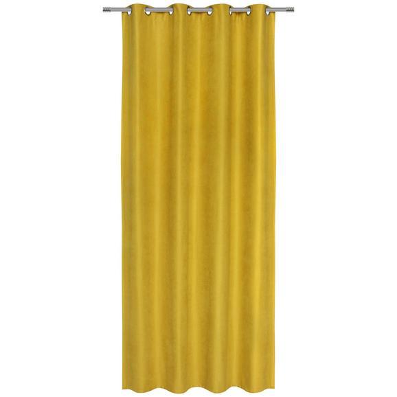 Ösenschal Nizza Gelb 140x245cm - Gelb, KONVENTIONELL, Textil (140/245cm) - Mömax modern living