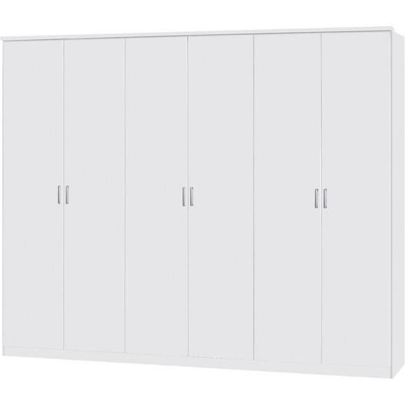 Dulap De Haine Lemgo - alb/culoare aluminiu, Konventionell, plastic/lemn (271/212/54cm)