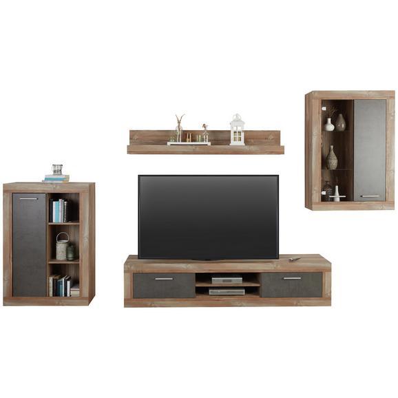 Regal Za Dnevni Boravak Jao - boje bora/siva, Modern, drvni materijal/metal (298-318/196/41cm) - Modern Living