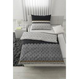 Bettwäsche Africa Schwarz/Weiß 140x200cm   Gelb/Schwarz, LIFESTYLE, Textil  (140