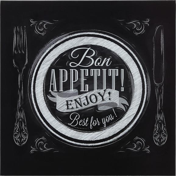 Steklena Slika Bon Appetit - večbarvno, Moderno, steklo (30/30/2cm) - Mömax modern living