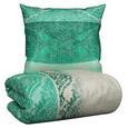 Bettwäsche Lakeisha Smaragd 135x200cm - Smaragdgrün, LIFESTYLE, Textil (135/200cm) - Mömax modern living