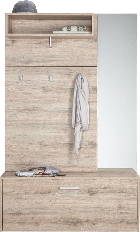 Garderobe In San Remo/schwarz - Eichefarben/Schwarz, KONVENTIONELL, Holzwerkstoff (100/160/26cm) - MÖMAX modern living