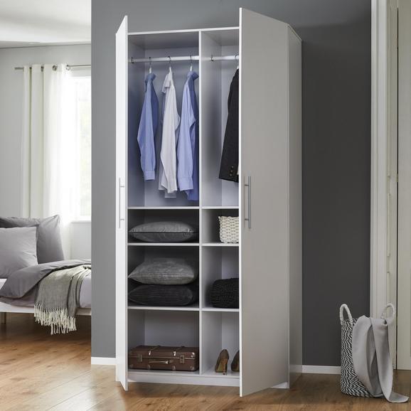 Schrank Basic - Weiß, MODERN, Holzwerkstoff (110/220/56cm) - Modern Living