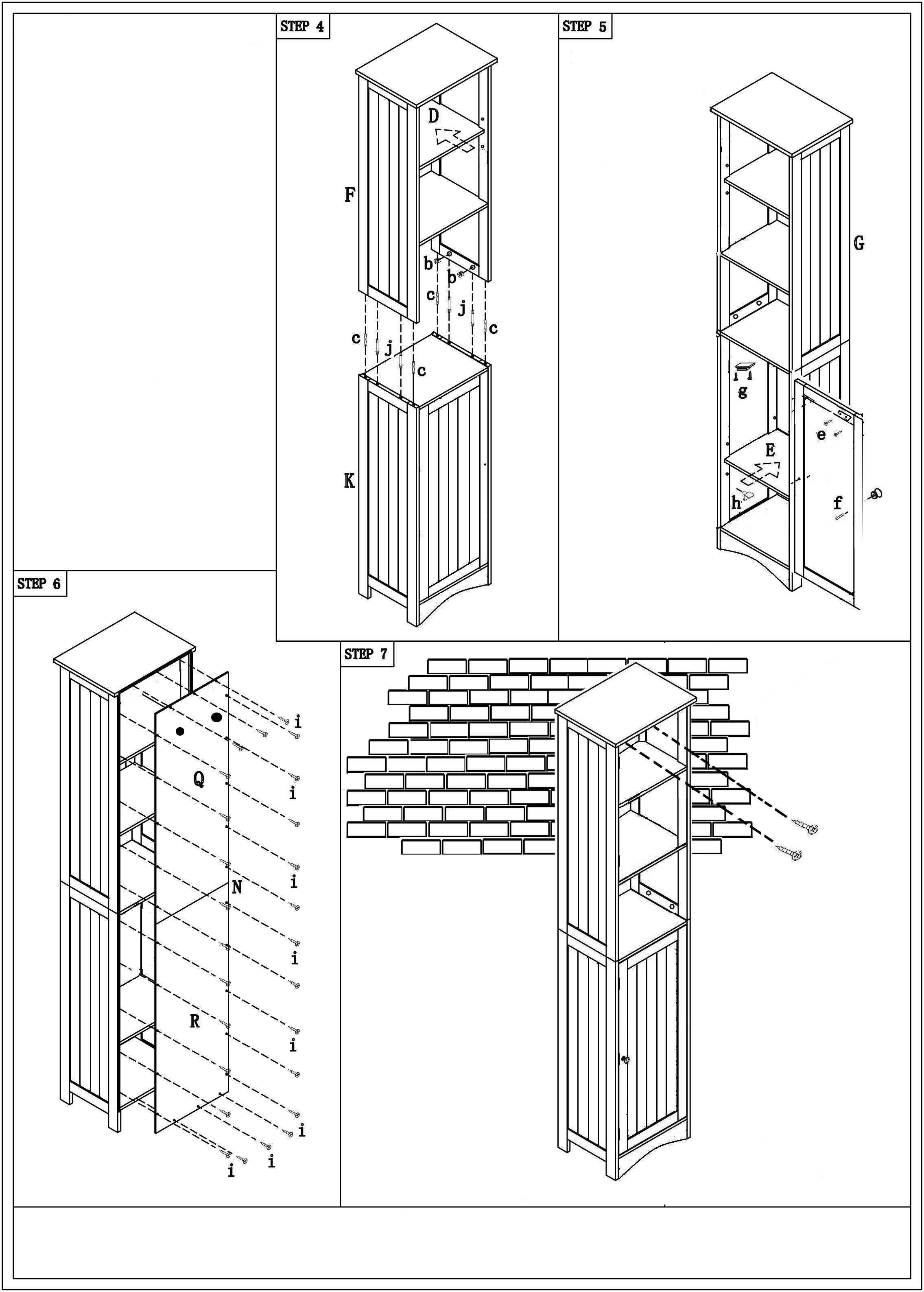 Badezimmerschrank Bianca - Weiß, MODERN, Holz/Metall (40/160/38cm) - MÖMAX modern living