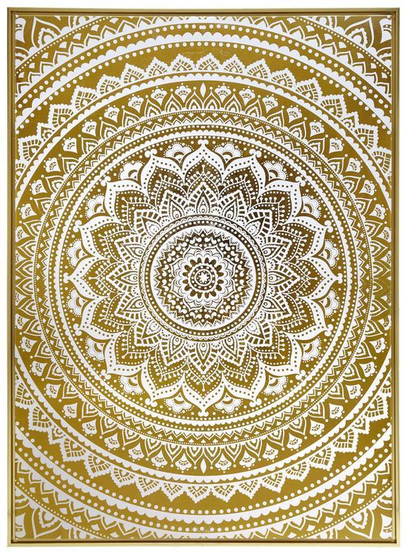 Slika Denise - zlata, les (104/144/4,3cm) - Modern Living