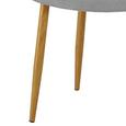 Stuhl Samantha - Buchefarben/Hellgrau, MODERN, Holz/Textil (57,5/89/68cm) - Mömax modern living