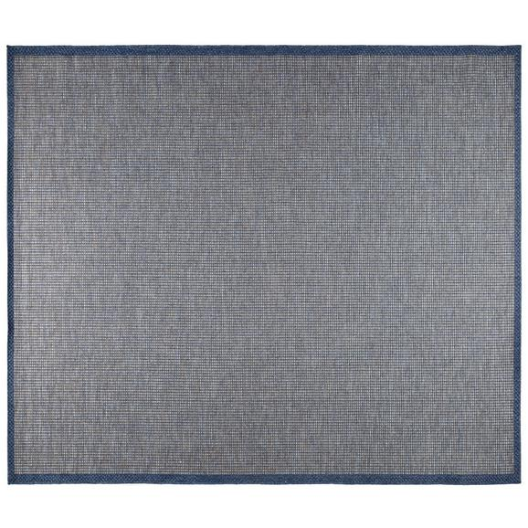 Flachwebeteppich Jan 1 Dunkelblau ca.90x200cm - Dunkelblau, MODERN, Textil (80/200cm) - Mömax modern living