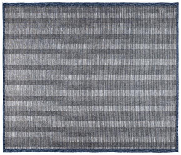 Flachwebeteppich Jan Dunkelblau 80x150cm - Dunkelblau, MODERN, Textil (80/150cm) - Mömax modern living