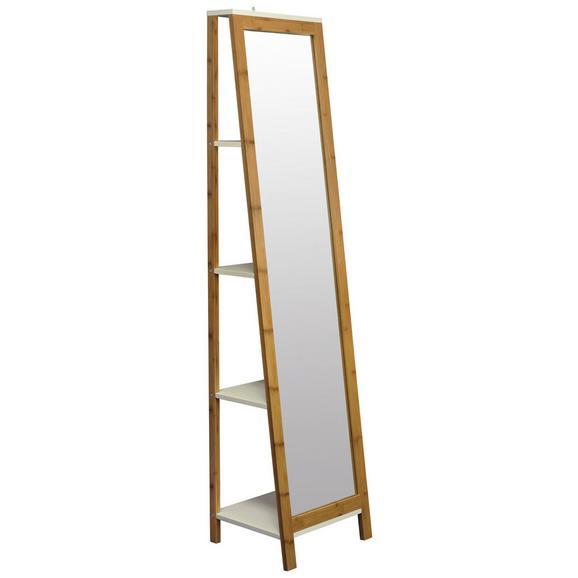 Standspiegel Naturfarben/Weiß - Naturfarben/Weiß, MODERN, Glas/Holz (40/170/35cm) - Mömax modern living