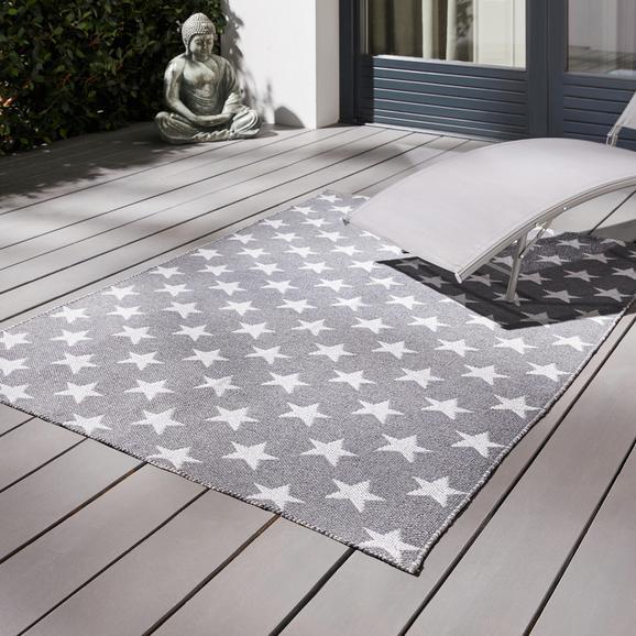 Teppich Outdoor Stars ca.120x170cm - Weiß/Grau, MODERN, Textil (120/170cm) - Bessagi Garden