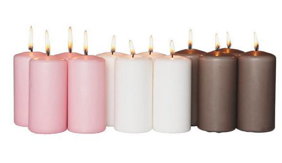 Sveča Katrinja - petrolej/roza (6/12,5cm) - Mömax modern living