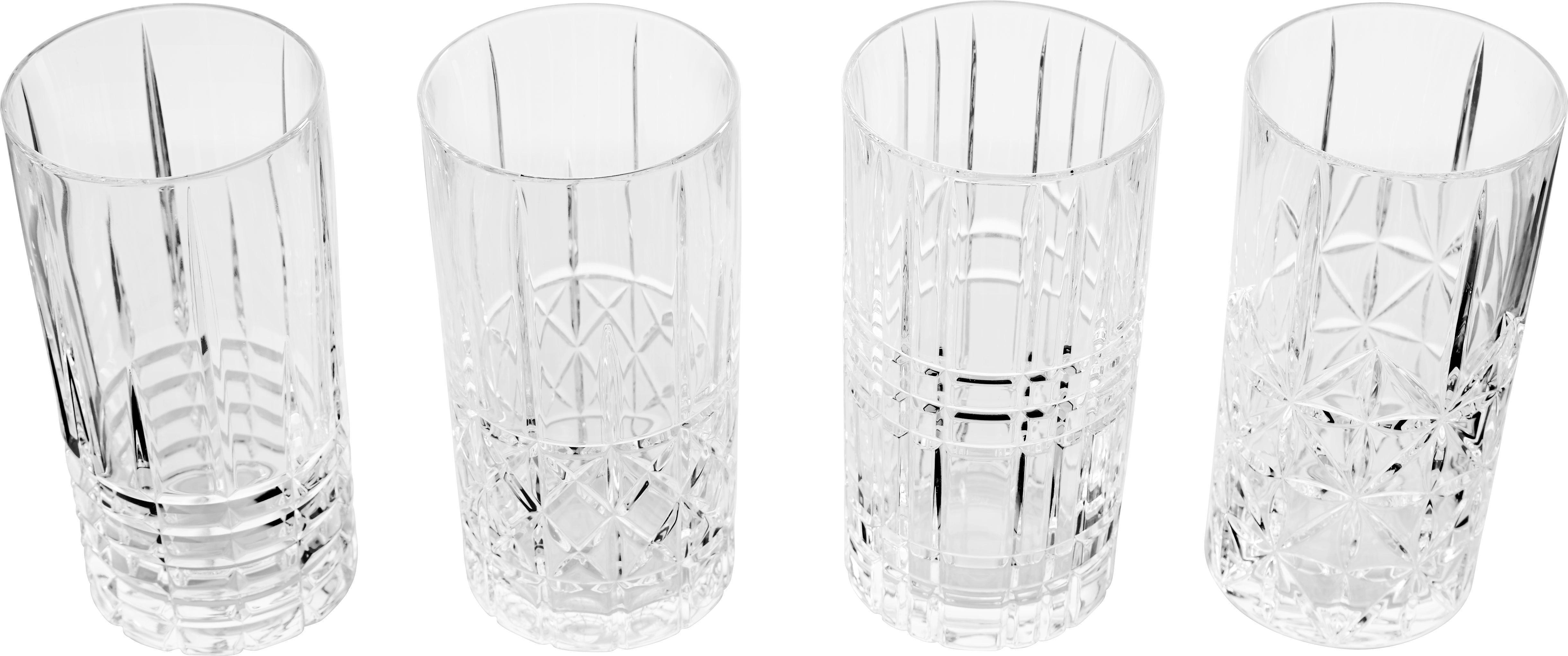 Longdrinkgläser Nachtmann Highland 4-er Set - Klar, KONVENTIONELL, Glas (15,1cm) - NACHTMANN