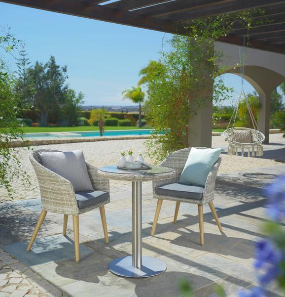 Balkon Szett San Remo - Bézs/Szürke, modern, Műanyag/Üveg - Mömax modern living