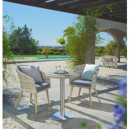 Balkon Szett San Remo - bézs/tiszta, modern, műanyag/üveg - MÖMAX modern living