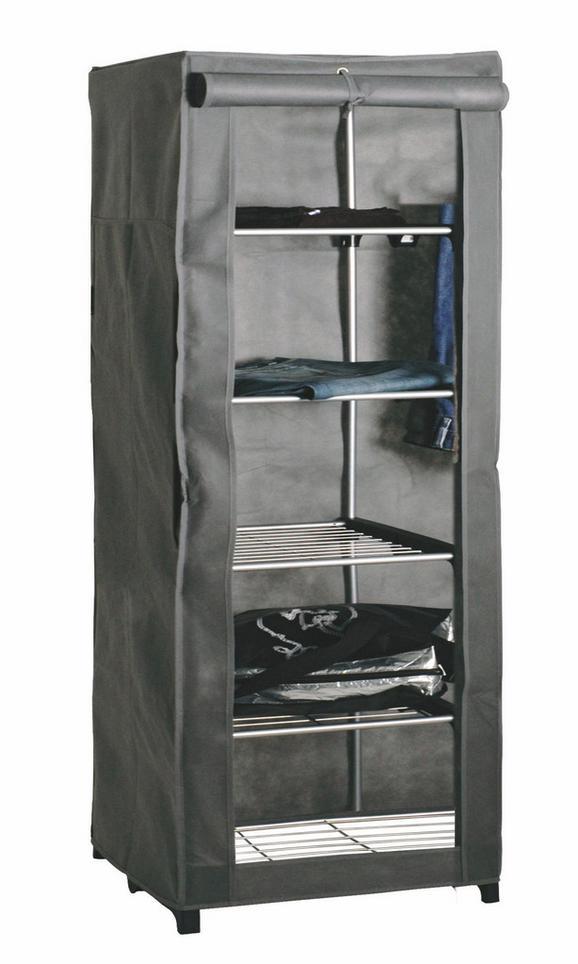 Garderobe Grau - Grau, Kunststoff/Metall (60/173/50cm) - Mömax modern living