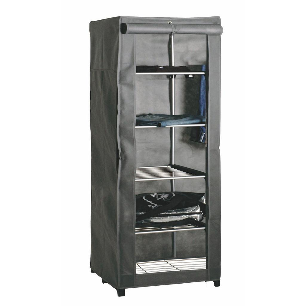Garderobe in Grau