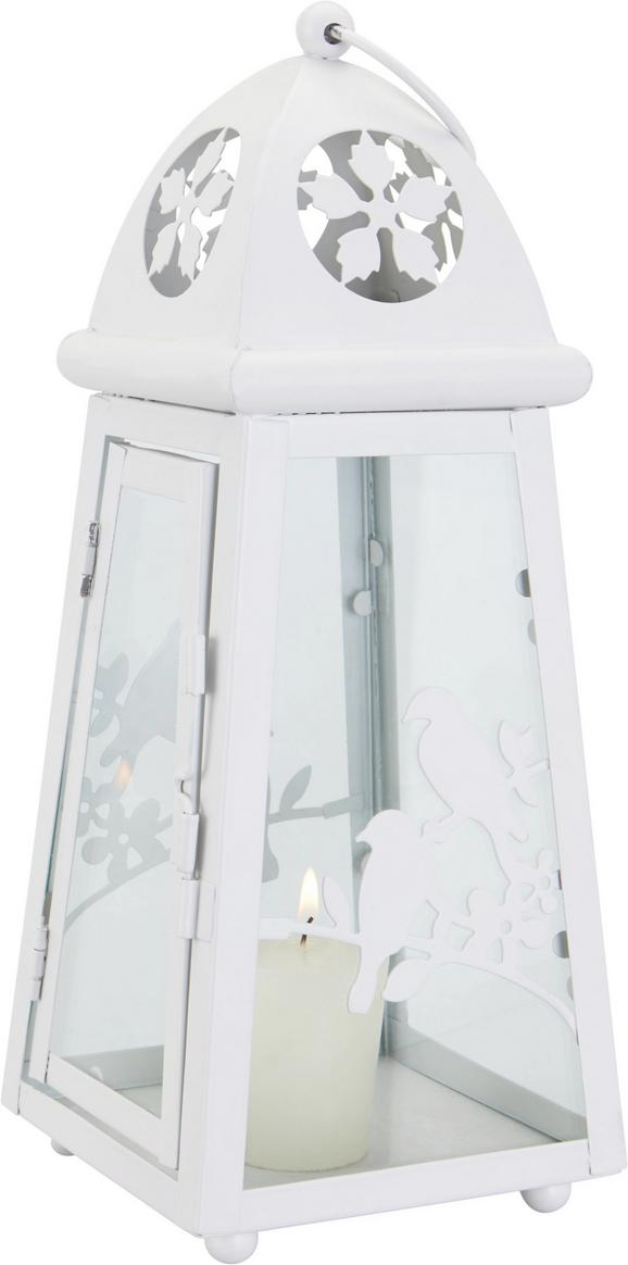 Laterna Helga - bela, Romantika, kovina/steklo (11,2/11,2/28cm) - Mömax modern living