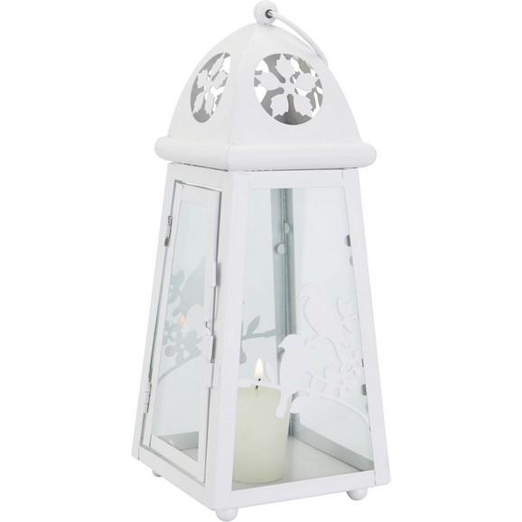 Laterne helga in wei aus metall glas online kaufen m max Laterne aus glas