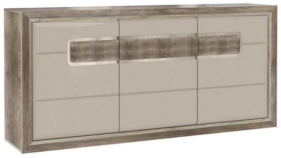 Tálalószekrény Tiziano - Bézs/Tölgyfa, modern, Faalapú anyag/Műanyag (193,8/91,4/43,5cm)