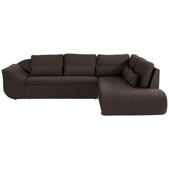 Sedežna Garnitura Carisma - črna/temno rjava, Moderno, umetna masa/tekstil (300/210cm) - Mömax modern living