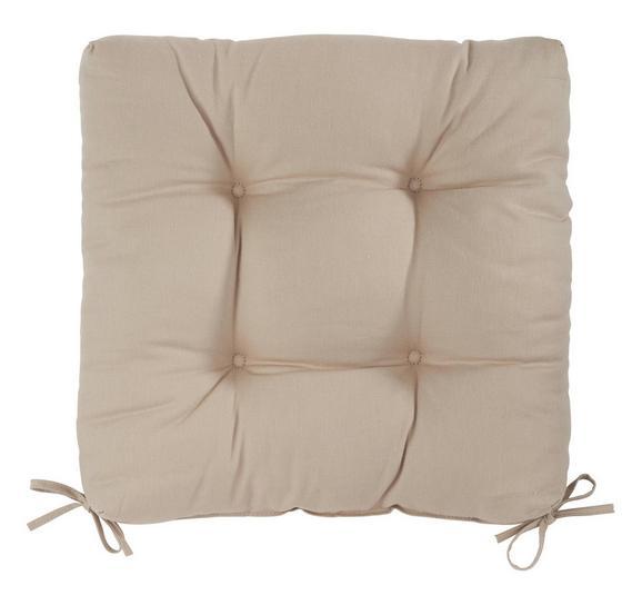 Sitzkissen Elli in Grau, ca. 40x40x7cm - Grau, Textil (40/40/7cm) - MÖMAX modern living