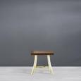 Hocker Yogi - Braun/Naturfarben, Holz (50/48/30cm) - Premium Living
