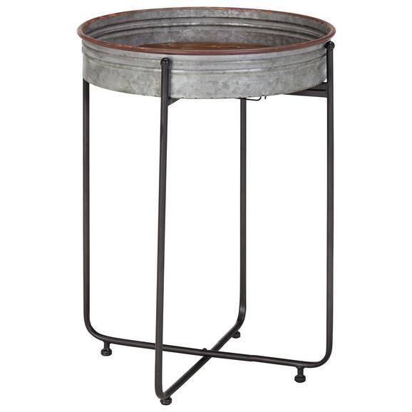 Beistelltisch Grau/Schwarz - Schwarz/Grau, LIFESTYLE, Holz/Metall (48/66/48cm) - Modern Living