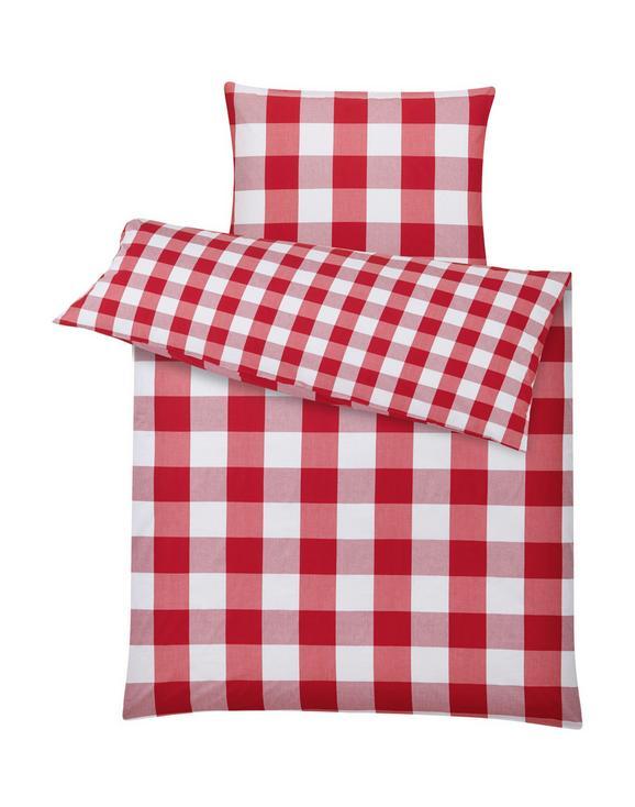Ágyneműhuzat-garnitúra Zams - piros/fehér, romantikus/Landhaus, textil (140/200cm) - ZANDIARA