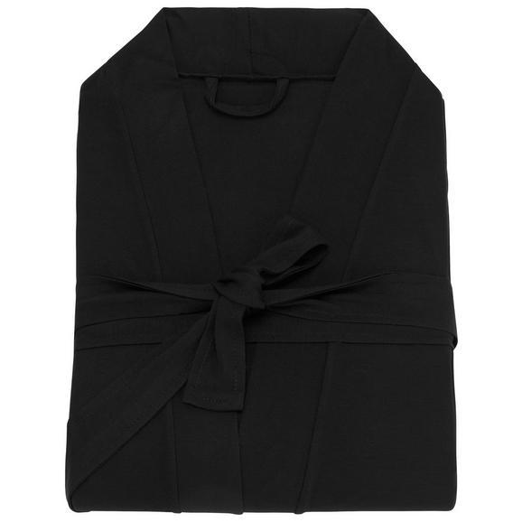 Morgenmantel Victoria verschiedene Größen - Schwarz, Textil (S/M/Lnull) - Premium Living