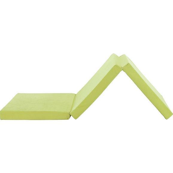 Összecsukható Matrac Zöld Anna - Zöld, modern, Textil (65/186cm)