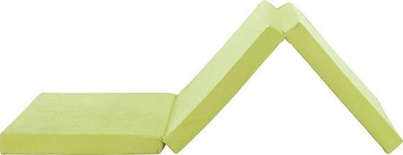 Zložljivo Ležišče Anna - zelena, Moderno, tekstil (65/186cm)