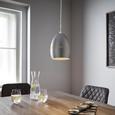 Hängeleuchte max. 42 Watt 'Bora' - Silberfarben, MODERN, Metall (16,5/16,5/127cm) - Bessagi Home